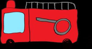 フリー素材 【ポンプ車】 赤
