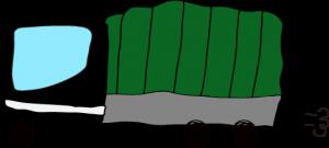 トラック:黒 【 フリー素材  】