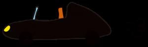 黒:【素材・ 自動車】オープンカー
