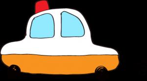 フリー素材 パトカー オレンジ
