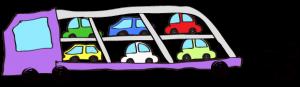 紫:【フリー素材・ 大型車】カーキャリー(積み)