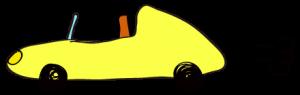 黄色:【素材・ 自動車】オープンカー