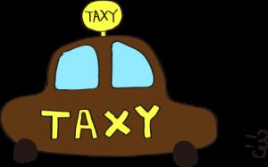 タクシー:茶色