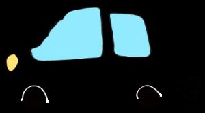 黒:【フリー素材・ 自動車】ワゴン