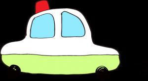 フリー素材 パトカー 黄緑