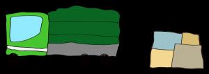 緑【 フリー素材  】トラック Track 横・箱
