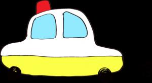 フリー素材 パトカー 黄色