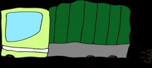 トラック:黄緑 【 フリー素材  】
