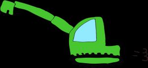 ショベルカーロング:緑 【 フリー工事車両 】