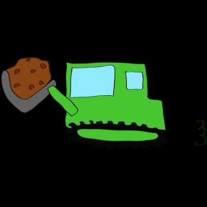 ブルドーザー(土):緑