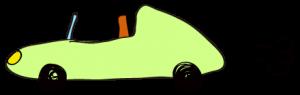 黄緑:【素材・ 自動車】オープンカー