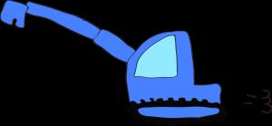 ショベルカーロング:青 【 フリー工事車両 】