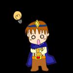 RPG素材_勇者青_ヒラメキ_電球