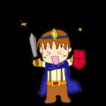 RPG素材_勇者青_喜び