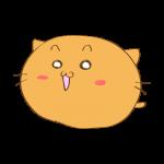 らくがき素材 ネコ_喜び