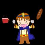 RPG素材_勇者青_パンとスープ