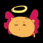 らくがき素材 ネコ堕天使_毒