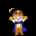 RPG素材_勇者青_びっくり