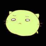 らくがき素材 ネコ_哀愁