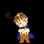 RPG素材_勇者青_腕組_泣き顔