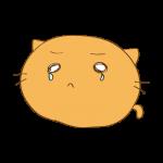 らくがき素材 ネコ_涙