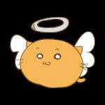 らくがき素材 ネコ 天使_基本