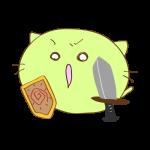 ラクガキ素材 剣士_攻撃