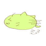 らくがき素材 ネコ_横ダッシュ