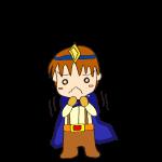 RPG素材_勇者青_ブルブル
