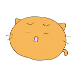 らくがき素材 ネコ_哀愁4