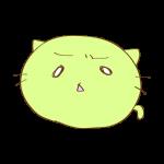 らくがき素材 ネコ_哀愁2
