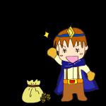 RPG素材_勇者青_ゲット_お金