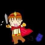 RPG素材_勇者赤_横逃げ