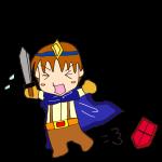 RPG素材_勇者青_横逃げ