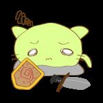 ラクガキ素材 剣士_倒れ