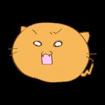 らくがき素材 ネコ_怒り