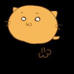 らくがき素材 ネコ_ジャンプ