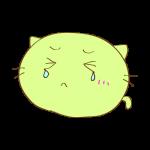 らくがき素材 ネコ_泣き
