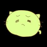 らくがき素材 ネコ_哀愁3