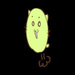 らくがき素材 ネコ_ハイジャンプ