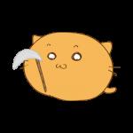 らくがき素材 ネコ死神_基本