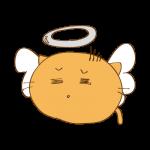 らくがき素材 ネコ 天使_毒