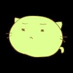 らくがき素材 ネコ_悲しみ