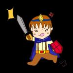 RPG素材_勇者青_怒り攻撃