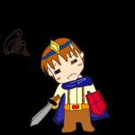 RPG素材_勇者青_悩む