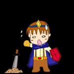 RPG素材_勇者青_負け