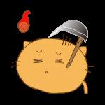 らくがき素材 ネコ火の玉_毒