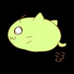 らくがき素材 ネコ_横ジャンプ