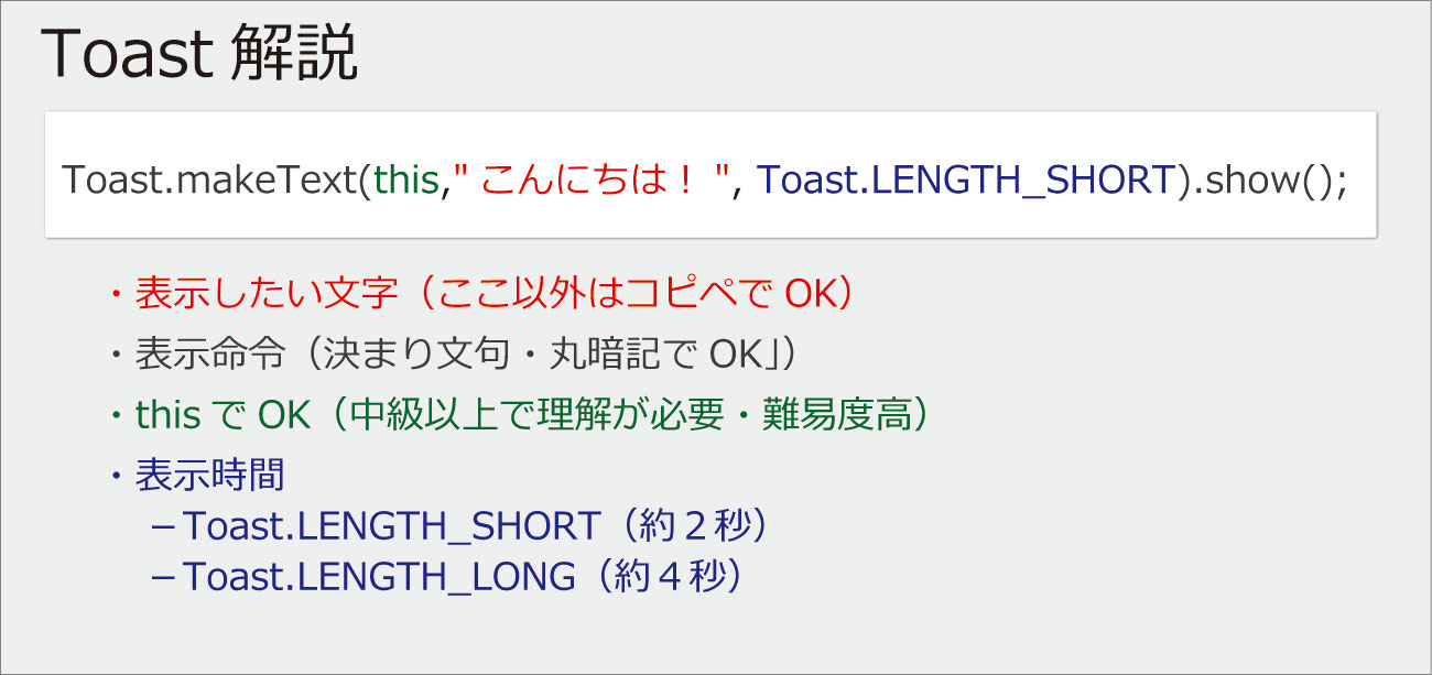 Android-Toast-解説